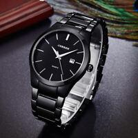 Fashion Curren Men Date Stainless Steel Business Analog Quartz Sport Wrist Watch