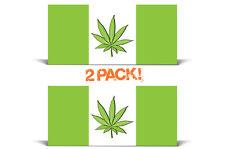 420 Weed Flag Kush Cannabis Graphic Vinyl Marijuana Sticker Decal 2 PACK