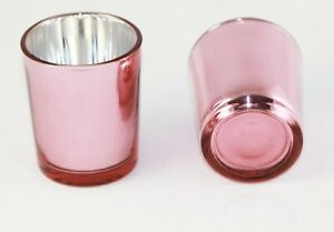 10 Rose Gold Glass Tealight Votive Candle Holder Wedding Party Table Event Decor