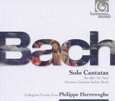 """COFFRET 3 CD-LIVRE NEUF """"BACH - SOLO CANTATAS (for alto / for bass - German cant"""