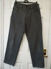 NEXT Mens Grey W32 Leg 31 Short Everyday Casual Loose Fit Cotton Blend Jeans