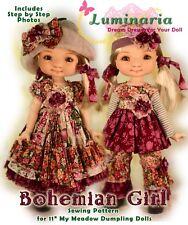 """Pdf Dress Pattern Fit 11"""" My Meadow Dumpling Patti Giggi Saffi Bailey Tella Doll"""