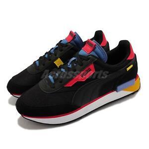 Puma Future Rider Neon Play Black Red Blue Suede Men Unisex Casual 373383-07