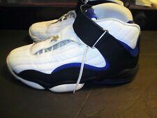 Men's Nike Air Penny IV 4 Basketball Shoes 864018-100 White Black SIZE 9.5