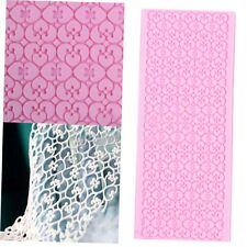Silicone Lace Fondant Embossed Mold Sugar Cake Decorating Mould Tool GO