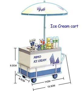 Rare 2009 UML Mimo Local Street Vendor - Miniature Ice Cream Cart
