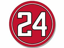4x4 inch Round #24 Devonta Freeman Sticker (Atlanta Falcons Colors Number 24)