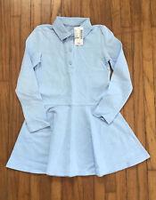 Girls Size 4 Light Blue Pique Polo Uniform Dress Nwt