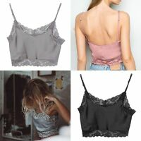 Hot Ladies Lace Floral Bralette Bralet Bra Bustier Crop Tops Cami Unpadded Tank