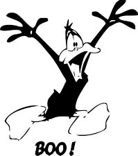DAFFY DUCK BOO! Vinyl Decal 150mm