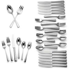 Lenox Swain 74 Piece Flatware Set Service For 12 Stainless 18/10 Classic NEW