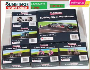 Bunnings Building Block Warehouse Complete 6 Sets Entire Set LIMITED Bricks
