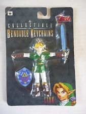 Nintendo N64 Legend of Zelda LINK bendable toy figure KEYRING/KEYCHAIN 1998 MOC