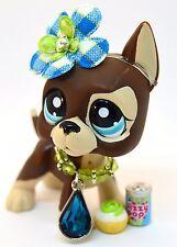 Littlest Pet Shop 817 Brown & Tan Great Dane Dog w/ Blue Dot Eyes