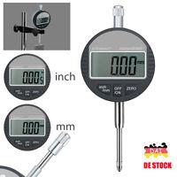 """Digital Messuhr 0,01 mm / 0.005"""" Messgerät Messtaster Messbereich 0-25.4mm/1''"""