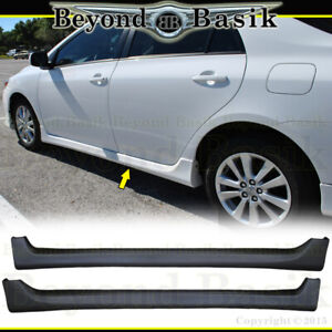 For 2009-2013 TOYOTA COROLLA Type S 2pc SIDE SKIRTS Aero Factory Style Body Kit