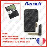 PROMO CARTE COMPLETE Neuve RENAULT Megane II et Scenic 2 ou 3 boutons NEUVE