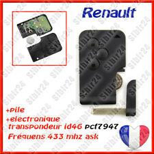 Carte cléf vierge + électronique à programmer Renault Mégane 2 Scénic 2 3 bouton
