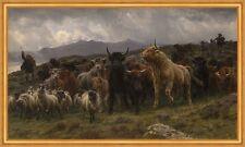 Highland RAID Rosa Bonheur cabras bovinos Escocia ganado animales pastor B a2 03193
