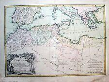 1762 Barbary Coast Morocco Algeria Sicily Tunis Tripoli Janvier Lattre Original