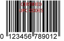 100 UPC & EAN BARCODE codes NUMBERS BAR CODE NUMBER BARCODES for amazon