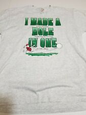 """Vtg 90s Golf Humor Shirt """"I Made A Hole In One"""" Obscure Jerzees Size Large 50/50"""