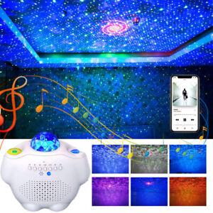 Bluetooth LED Galaxy Starry Night Light Projector Speaker Ocean Sky Party NEW UK
