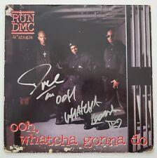 DMC Signed Ooh Whatcha Gonna Do Vinyl Record Single RUN Hip Hop Rap LEGEND RAD