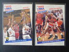 1993-94 Upper Deck - 2x Michael Jordan - Playoff Highlights #180 & 193