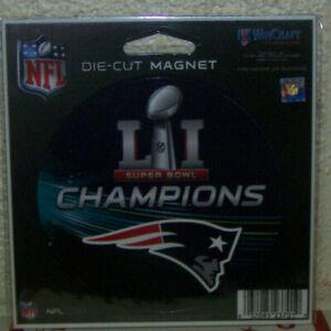 "1 New England Patriots NFL Champions Super Bowl 51 Die-cut Auto Round Magnet 4"""