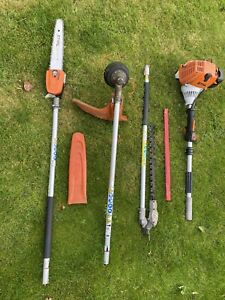 Stihl kombi Engine, Strimmer, Hedge Trimmer And Pole Chainsaw