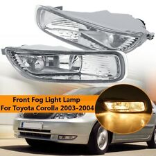 Pair Clear Lens Bumper Fog Light Lamps with Bulbs For Toyota Corolla 2003 2004