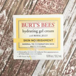 Burt's Bees Hydrating Gel Cream w/ Royal Jelly Skin Nourishment 1.8oz NEW