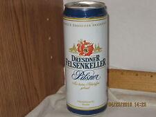 Dresdner Felsenkeller Pilsner Beer Dresden Germany .5 L beer can top opened