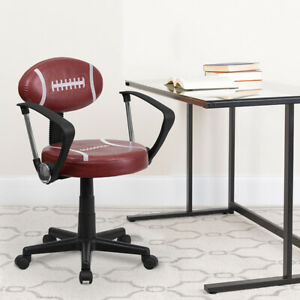 Football Swivel Task Office Chair with Arms