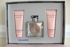 Ralph Lauren ROMANCE Eau de Parfum 3.4oz Spray +Body Lotion + Shower Gel 3Pc Set
