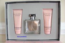 Ralph Lauren ROMANCE Eau de Parfum 3.4oz Spray +Body Lotion + Shower Gel 3Pc Set