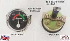 AUTO D'EPOCA 52mm Comparatore universale 30-30 amperometro Amp TACHIMETRO CROMO