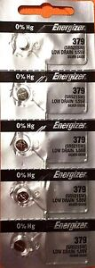 5 NEW ENERGIZER SR521SW 379 Silver Oxide 1.55v Watch Batteries Aussie Stock
