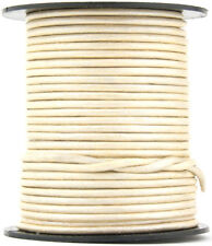 Xsotica® Pearl Metallic Round Leather Cord 2mm 25 meters (27 yards)