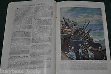 1944 magazine article SOUTH PACIFIC ISLANDS Springboards to Japan color art