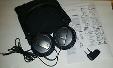 Sony MDR-NC7 Headphones Black Foldable Active Noise Cancelling