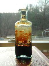 Indian root beer extract cork solids 1890s aqua soda drink mix