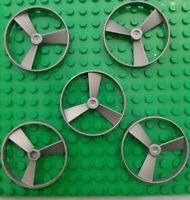 Used Lego Bionicle 5x Rhotuka SpinnersItem No:50899/52232 Flat Silver