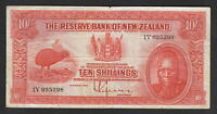 NEW ZEALAND P-154. (1938?) 10 Shillings - Lefeaux.. Prefix 1Y.. Fine+