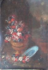 French-Oil-1870's-Flowers In Urn On Table- Great Quality-Sleeper