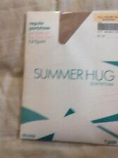 Vintage Sears Bermuda Beach Full Figure Tall Summer Hug Nude Nylon pantyhose