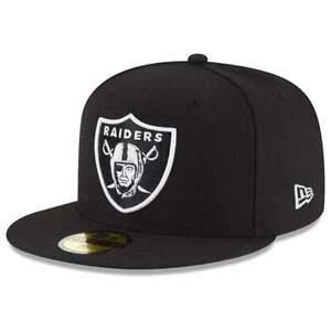Las Vegas Raiders New Era NFL Team 59FIFTY Fitted Hat - Black