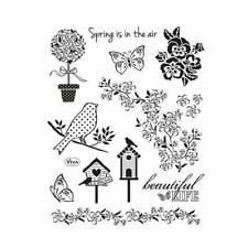 Viva Decor A5 Clear Silicone Stamps Set - Springtime #152