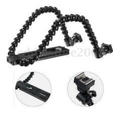 Flexible Dual/Twin-Arm/Hot shoe Flash Bracket for CANON NIKON PENTAX MACRO SHOT